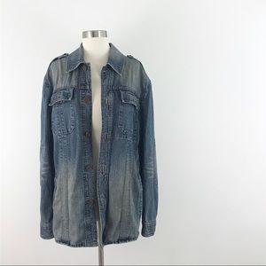 Express Oversized Jean Jacket Coat Large denim